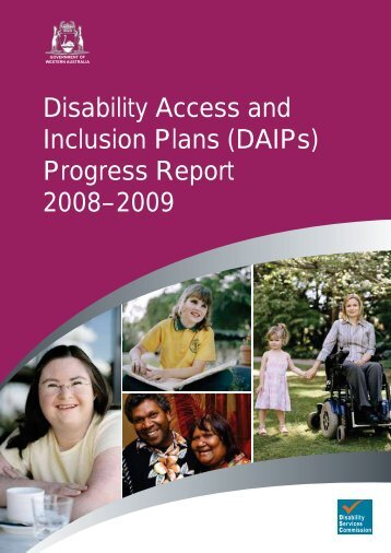 DAIP Progress Report 2008-2009 - Disability Services Commission