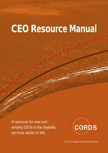 CEO Resource Manual - Disability Services Commission