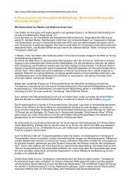 E-Procurement und Korruptionsbekämpfung - Wunschvorstellung ...