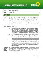 Thema: Grüne Haushaltspolitik Stand: 2. August 2013 Auf die ...