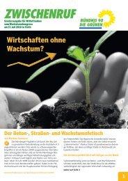 Wirtschaften ohne Wachstum? - Bündnis 90/Die Grünen Nürnberg