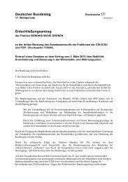 Deutscher Bundestag Entschließungsantrag