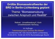 Größte Biomassekraftwerke der BRD in Berlin-Lichtenberg geplant ...