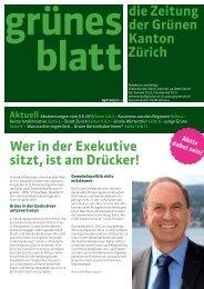 Grünen Blatt Nr. 2 - Grüne Kanton Zürich