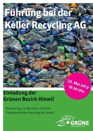 Führung bei der Keller Recycling AG