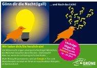 Gönn dir die Nacht(igall) ... und lösch das Licht! - Grüne Kanton Zürich