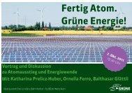 Fertig Atom. Grüne Energie! - Grüne Kanton Zürich