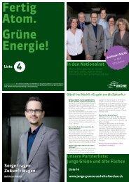Junge Grüne und alte Füchse - Grüne Kanton Zürich