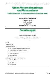Pressemappe - Grüne Kanton Zürich