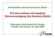 Kein Folientitel - Grüne Kanton Zürich