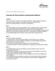 Statuten der Grünen Bezirk und Gemeinde Affoltern - Grüne Kanton ...