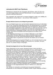 Jahresbericht 06/07 des Präsidiums - Grüne Kanton Zürich