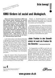 Positionspapier KMU... - Grüne Kanton Zürich
