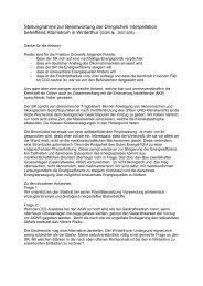 Stellungnahme zur Beantwortung der Dringlichen Interpellation ...
