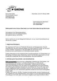 Grüne Oberrieden Oberrieden, den 24. Oktober 2008 C/o ...