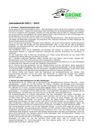 Jahresbericht 2011 / 2012 - Grüne Kanton Zürich