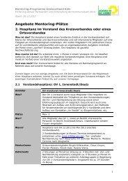 Angebote Hospitanz - Bündnis 90/Die Grünen Kreisverband Köln