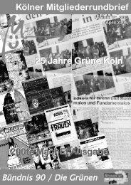 Nr. 200, April 2005 - Bündnis 90/Die Grünen Kreisverband Köln