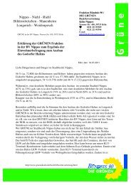 Erklärung der GRÜNEN Fraktion in der BV Nippes zum Ergebnis der ...