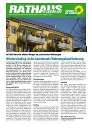 Wiedereinstieg in die kommunale Wohnungsbauförderung