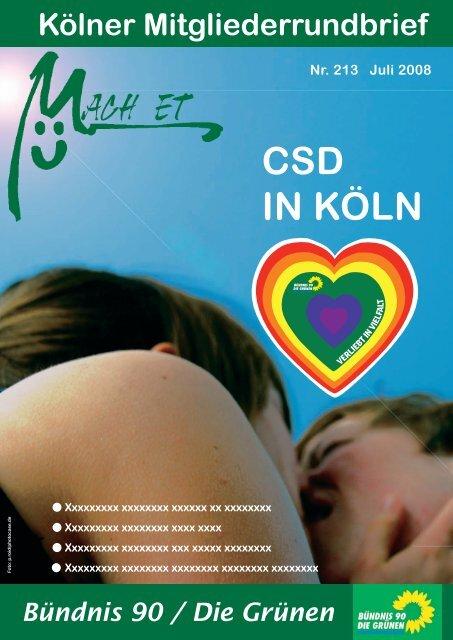 Nr. 213, Juli 2008 - Bündnis 90/Die Grünen Kreisverband Köln