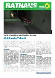 Mobil in die Zukunft - Bündnis 90/Die Grünen Kreisverband Köln