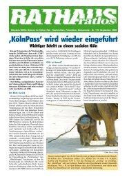 'KölnPass' wird wieder eingeführt - Bündnis 90/Die Grünen ...