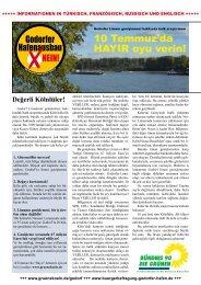 10 Temmuz'da HAYIR oyu verin! - Bündnis 90/Die Grünen ...