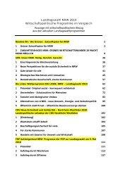 Landtagswahl NRW 2010 Wirtschaftspolitische Programme im ...