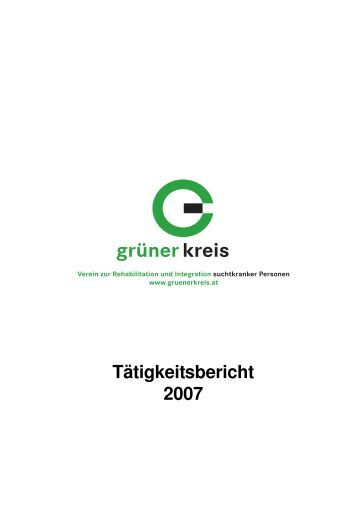 Tätigkeitsbericht 2007 - Grüner Kreis
