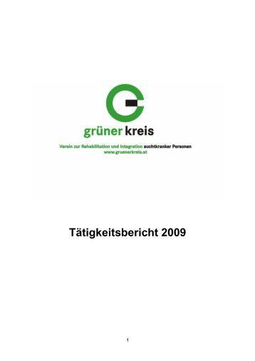 Tätigkeitsbericht 2009 - Grüner Kreis