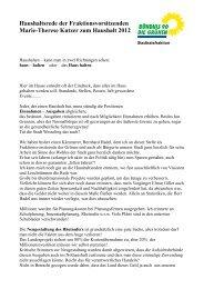 Haushaltsrede zum Haushalt 2012 - Grünen in Wesseling