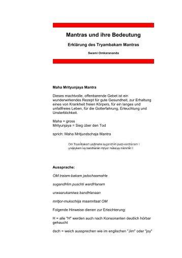 Mantras und ihre Bedeutung (PDF)