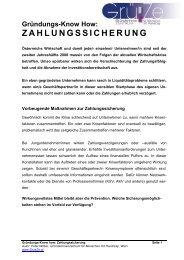 ZAHLUNGSSICHERUNG - GründerInnenzentrum für Menschen mit ...