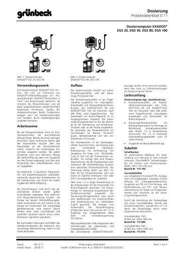 Dosierung - grunbeck