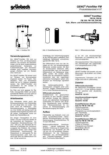 GENO®-Feinfilter FM - grunbeck