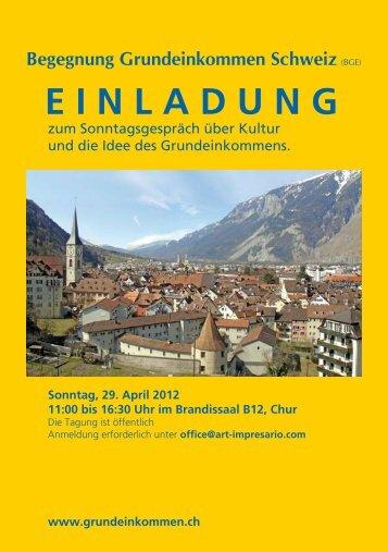 Begegnung Grundeinkommen Schweiz