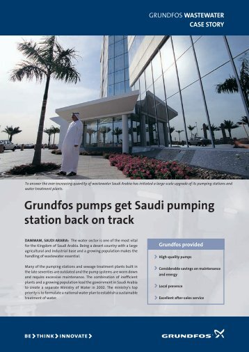 Grundfos pumps get Saudi pumping station back on track