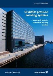 Grundfos pressure boosting systems