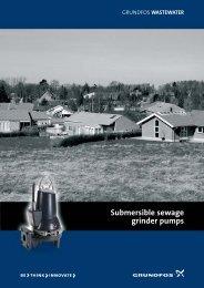 Submersible sewage grinder pumps - Grundfos