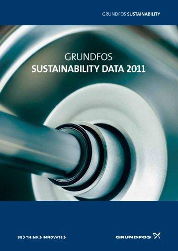 GRUNDFOS SUSTAINABILITY DATA 2011
