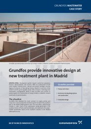 Grundfos provide innovative design at new treatment plant in Madrid