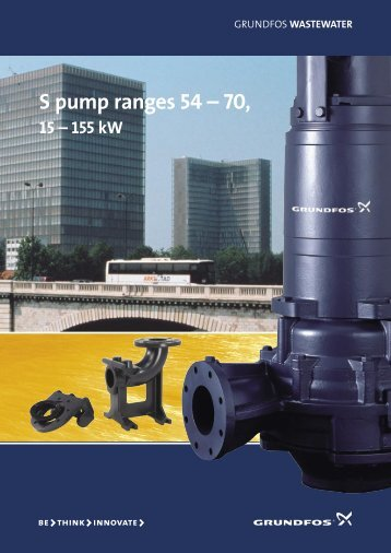S pump ranges 54 – 70, - Grundfos