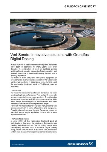 Verl-Sende: Innovative solutions with Grundfos Digital Dosing