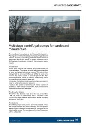 Multistage centrifugal pumps for cardboard manufacture - Grundfos