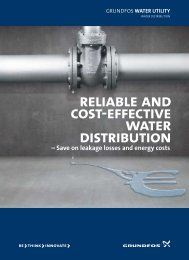 reliable and cost-effective water distribution - Grundfos