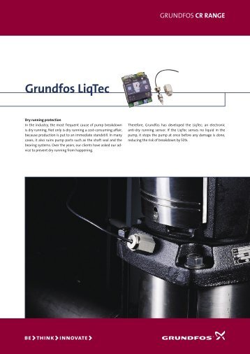Dry-running protection - Grundfos