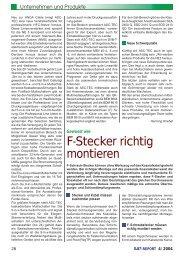 F-Stecker richtig montieren - Grundig-info.de