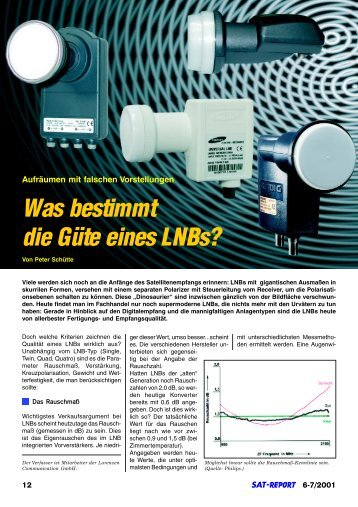 Was bestimmt die Güte eines LNBs? - Grundig-info.de