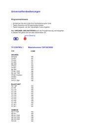 Universalfernbedienungen - Grundig-info.de